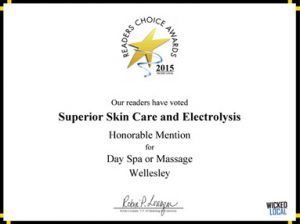 Superior Skin Care and Electrolysis Award 2015