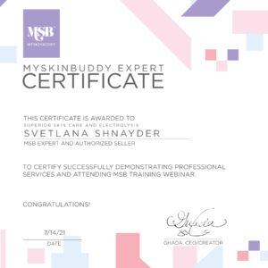 MSB Certificate